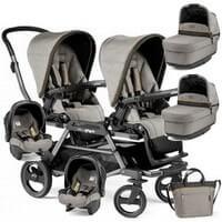 Bliźniaczy wózek dla noworodków PEG PEREGO DUETTE PIROET + 2 foteliki