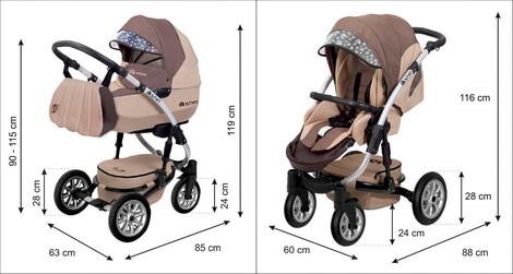 Babyactive wózek Shell Eko wymiary