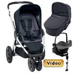 MURA 3 PLUS (zestaw 4w1) <font color=blue><b>2014</b></font> w�zek spacerowy + gondola + fotelik Maxi Cosi PEBBLE + baza do auta EASY BASE 2