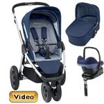 MURA 3 PLUS (zestaw 4w1) <font color=blue><b>2014</b></font> w�zek spacerowy + gondola + fotelik Maxi Cosi PEBBLE + baza do auta FAMILY FIX