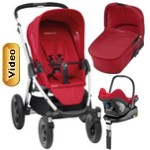MURA 4 PLUS (zestaw 4w1) <font color=blue><b>2014</b></font> w�zek spacerowy + gondola + fotelik Maxi Cosi CABRIO FIX + baza do auta FAMILY FIX