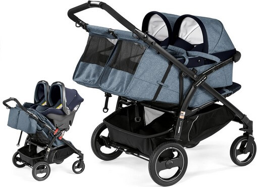 Peg Perego Book For Two z fotelikami