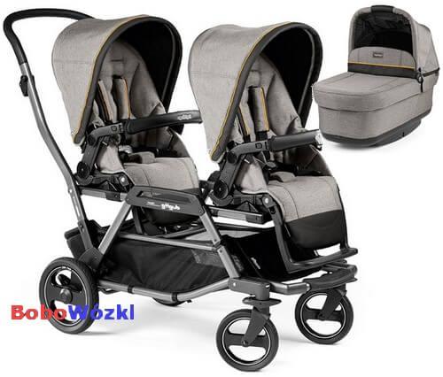 Wózek bliźniaczy Duette Piroet dla dzieci rok po roku