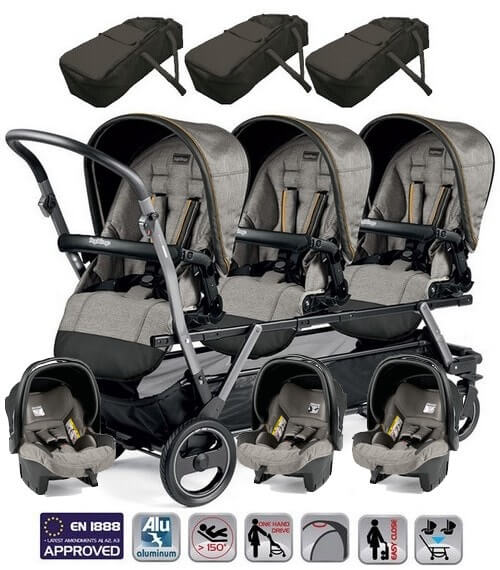 Peg Perego Triplette SW dla noworodków z fotelikami