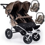 TFK Twinner Twist Duo w�zek spacerowy + 2 foteliki Maxi Cosi PEBBLE