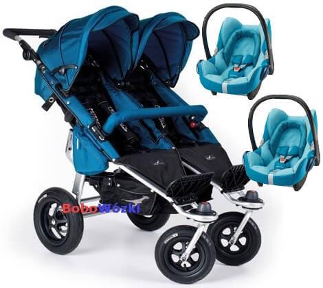 TFK wózek bliźniaczy + Cabrio FIX