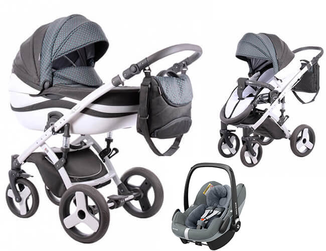 TAKO MOONLIGHT ŻAKARD (3w1) wózek głęboko-spacerowy + Maxi Cosi PEBBLE PLUS + torba 1