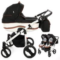 Wózek bliźniaczy 2w1 TAKO DALGA LIFT DUO + torby