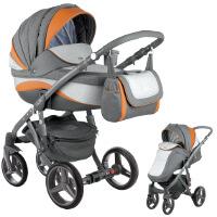 Wózek dziecięcy 2w1 ADAMEX BARLETTA NEW + torba
