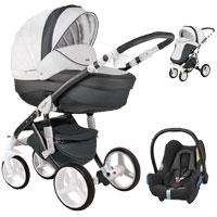 Wózek 3w1 ADAMEX BARLETTA DELUXE + fotelik Maxi Cosi CABRIO FIX