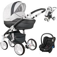 Wózek 3w1 ADAMEX BARLETTA DELUXE + fotelik Maxi Cosi CITI