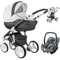 Wózek 3w1 ADAMEX BARLETTA DELUXE + fotelik Maxi Cosi PEBBLE PRO
