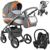 Wózek 3w1 ADAMEX BARLETTA NEW + fotelik Maxi Cosi CABRIO FIX