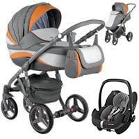 Wózek 3w1 ADAMEX BARLETTA NEW + fotelik Maxi Cosi PEBBLE PRO