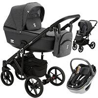 Wózek 3w1 Adamex EMILIO + fotelik Maxi Cosi CORAL