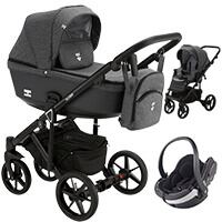 Wózek 3w1 Adamex EMILIO + fotelik BeSafe iZi GO MODULAR i-Size