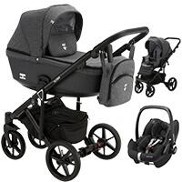Wózek 3w1 Adamex EMILIO + fotelik Maxi Cosi PEBBLE PRO