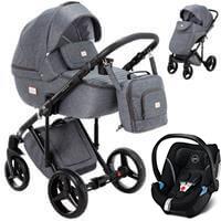 Wózek 3w1 ADAMEX LUCIANO + fotelik Cybex ATON 5