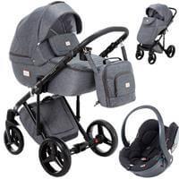 Wózek 3w1 ADAMEX LUCIANO + fotelik BeSafe iZi GO