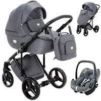 Wózek 3w1 ADAMEX LUCIANO + fotelik Maxi Cosi PEBBLE PRO