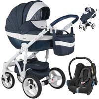 Wózek 3w1 ADAMEX MONTE DELUXE CARBON + fotelik Maxi Cosi CABRIO FIX