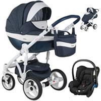 Wózek 3w1 ADAMEX MONTE DELUXE CARBON + fotelik Maxi Cosi CITI