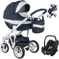 Wózek 3w1 ADAMEX MONTE DELUXE CARBON + fotelik Maxi Cosi PEBBLE PRO