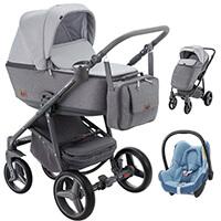 Wózek 3w1 ADAMEX REGGIO + fotelik Maxi Cosi CABRIO FIX