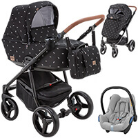 Wózek 3w1 ADAMEX REGGIO DECO + fotelik Maxi Cosi CABRIO FIX