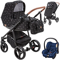 Wózek 3w1 ADAMEX REGGIO DECO + fotelik Maxi Cosi CITI
