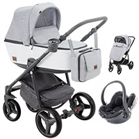 Wózek 3w1 ADAMEX REGGIO Premium + fotelik BeSafe iZi GO Modular i-Size