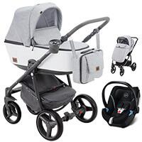 Wózek 3w1 ADAMEX REGGIO Premium + fotelik CYBEX ATON 5