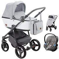 Wózek 3w1 ADAMEX REGGIO Premium + fotelik CYBEX ATON M