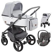 Wózek 3w1 ADAMEX REGGIO Premium + fotelik CYBEX CLOUD Z I-SIZE