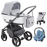 Wózek 3w1 ADAMEX REGGIO Premium + fotelik MAXI COSI CABRIO FIX