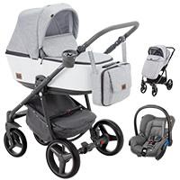 Wózek 3w1 ADAMEX REGGIO Premium + fotelik MAXI COSI CITI