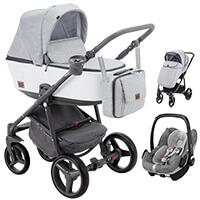 Wózek 3w1 ADAMEX REGGIO Premium + fotelik MAXI COSI PEBBLE PRO