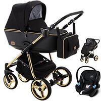Wózek dziecięcy 3w1 ADAMEX REGGIO Special Edition + fotelik Cybex ATON M