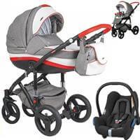 Wózek 3w1 ADAMEX VICCO + fotelik Maxi Cosi CABRIO FIX