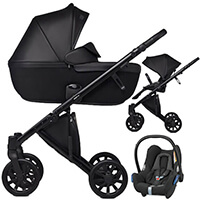 Wózek 3w1 ANEX e/type + fotelik Maxi Cosi CABRIO FIX