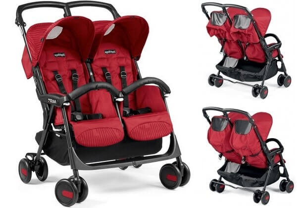 Bliźniaczy wózek spacerowy PEG PEREGO ARIA SHOPPER TWIN 1