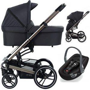 Wózek 3w1 BabySafe LUCKY + fotelik Swandoo ALBERT LITE