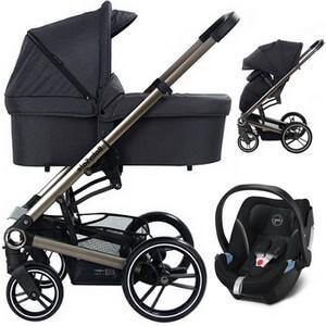 BABYSAFE LUCKY wózek 3w1 z fotelikiem CYBEX ATON 5