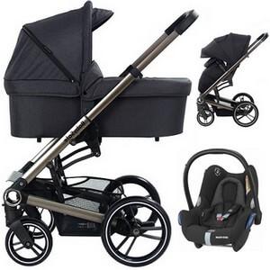 BABYSAFE LUCKY wózek 3w1 z fotelikiem MAXI COSI CABRIO FIX