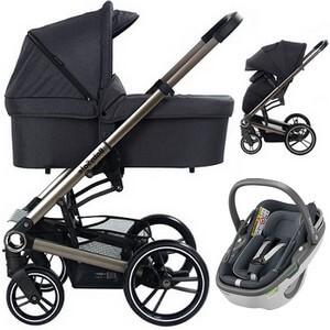 BABYSAFE LUCKY wózek 3w1 z fotelikiem MAXI COSI CORAL