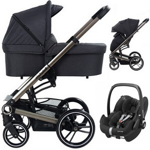 BABYSAFE LUCKY wózek 3w1 z fotelikiem MAXI COSI PEBBLE PRO