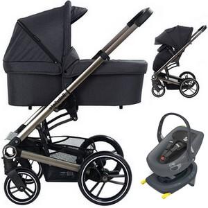 BABYSAFE LUCKY wózek 4w1 | fotelik SWANDOO ALBERT + baza