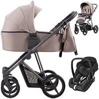 Wózek dziecięcy 3w1 Bebetto FLAVIO + fotelik Maxi Cosi MARBLE