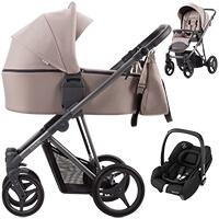 Wózek dziecięcy 3w1 Bebetto FLAVIO + fotelik Maxi Cosi TINCA