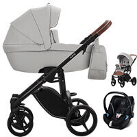 Wózek dziecięcy 3w1 BEBETTO LUCA PRO + fotelik CYBEX ATON 5